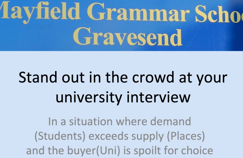Mock uni interviews at Mayfield Grammar