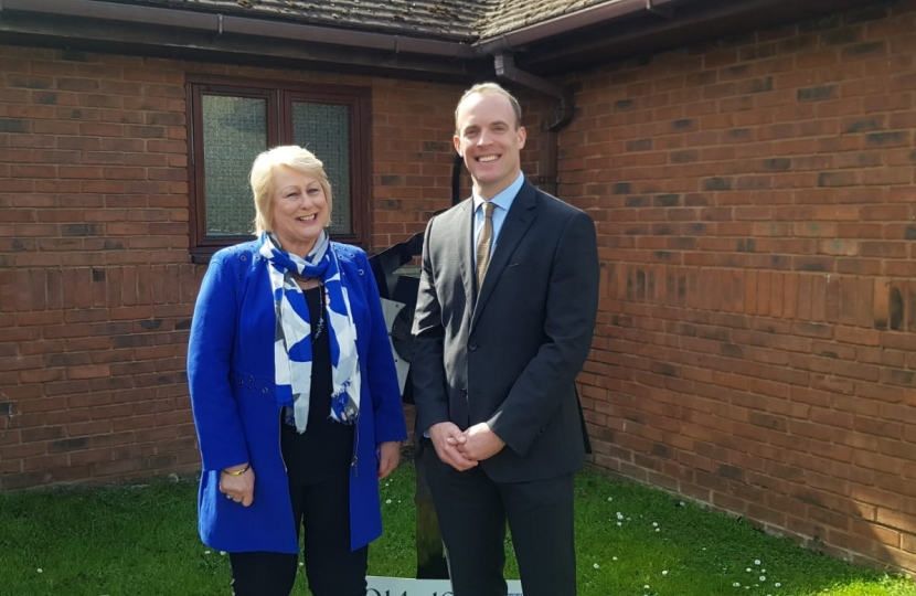 Denise Tiran of Meopham and Dominic Raab