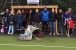 volunteers tidy up graveshams astro pitch