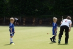 Youngesters at the annual free hockey youth camp
